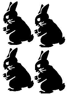 stickers lapins, Lapinou