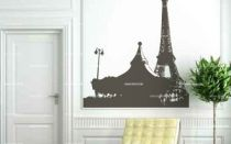 Stickers le man�ge et la tour eiffel