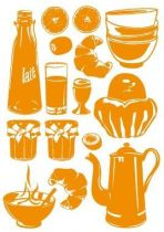 Stickers le set du petit déj\'