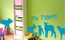 stickers les animaux de la ferme pour décorer une chambre d\'enfant