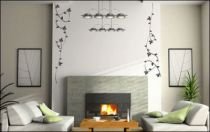 Le stickers lierre en tourbillon vous permettra d\'apporter la nature sur vos murs