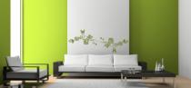 Le stickers ligne fleurale papillon pour décorer l\'intérieur