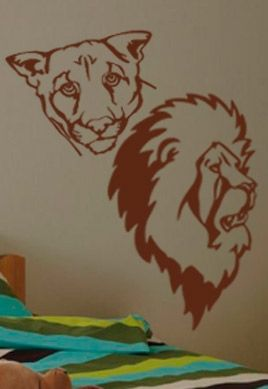 Stickers lion et lionne
