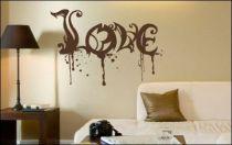 Le stickers love dégoulinant pour décorer l\'intérieur