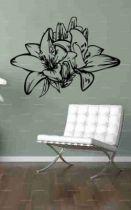 Stickers lys pour décoration murale sur le thème des fleurs