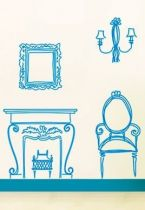 stickers mobilier baroque
