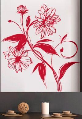 stickers fleur motif