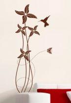 stickers muraux fleurs et insectes