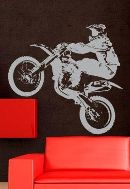 stickers muraux moto