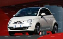 stickers moustache Fiat 500