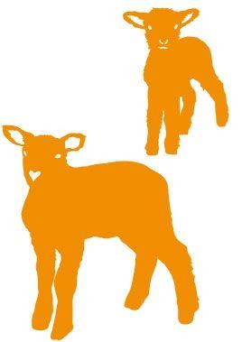 Stickers moutons pour une décoration enfant sur le thème de la ferme