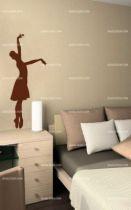 stickers muraux danseuse