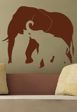 stickers deco elephant