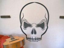 stickers mural tête de mort