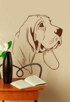 stickers tete de chien