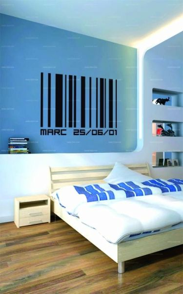 stickers code barre personnaliser. Black Bedroom Furniture Sets. Home Design Ideas
