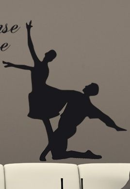 stickers danseur en couple