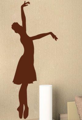 stickers mural danseuse classique