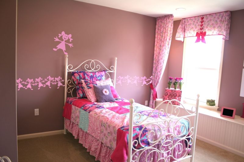 stickers muraux enfants filles. Black Bedroom Furniture Sets. Home Design Ideas