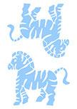 Stickers muraux enfants zèbre