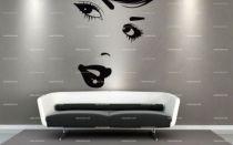 stickers mural visage femme