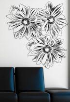 stickers dessin fleur
