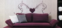 Le stickers fresque et coeur design pour décorer l\'intérieur
