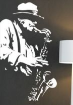 Stickers jazz saxo