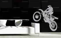 stickers muraux motocross