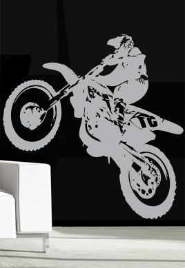 stickers muraux motard