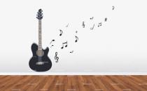 Stickers muraux notes de musique