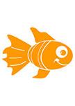 stickers salle de bain. Poisson Ayams, un sticker poisson découpé à la forme dans vinyle de couleur unie. Vous pouvez choisir la couleur et la taille de votre sticker, nous le fabriquons sur mesure.