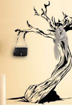 stickers porte manteau arbre