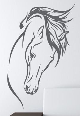 stickers tete cheval dessin