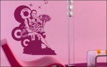 Le stickers musicien tromboniste pour décorer l\'intérieur
