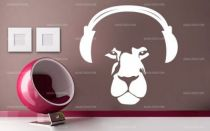 stickers tete de lion casque
