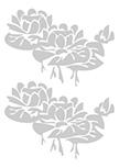 2 stickers nénuphars découpés à la forme dans vinyle de couleur unie.