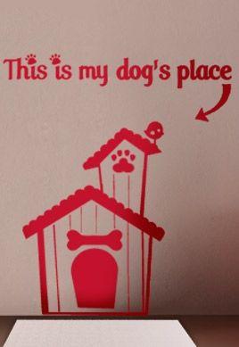 Stickers niche de chien