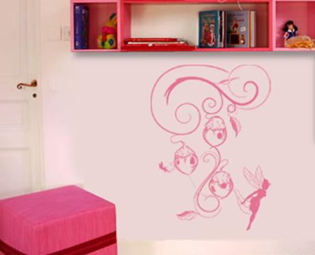 Le stickers nichoirs et fée pour décorer l\'intérieur sur le thème des fées