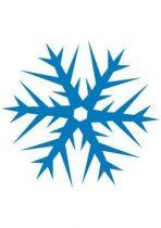 stickers noel etoile neige