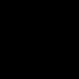Le stickers cocotier au vent en noir pour décorer l\'intérieur sur le thème de la nature