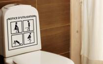 Le stickers notice d'utilisation toilette pour une d�coration originale pour les wc