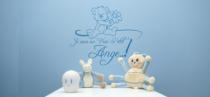 Le stickers nounours ange pour décorer une chambre d\'enfant