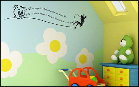 Le stickers nounours pays des rêves pour décorer une chambre d\'enfant