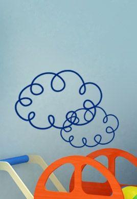 Stickers nuage aux boucles