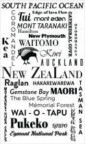Stickers nuage de mots New Zealand