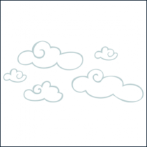 stickers nuages blancs et gris. Black Bedroom Furniture Sets. Home Design Ideas