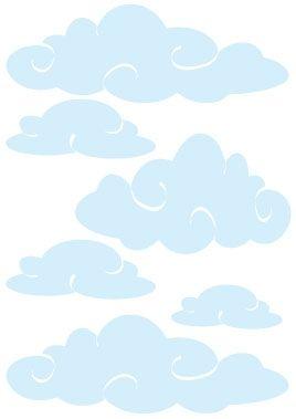 Stickers nuages enchantés