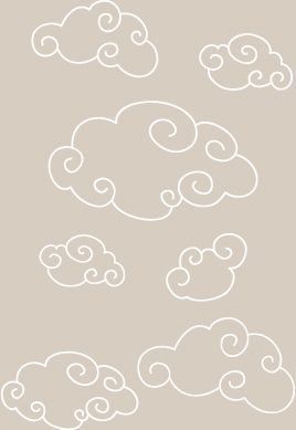 stickers bebe nuages