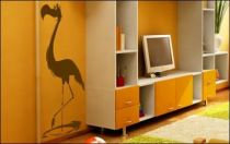 Le stickers oiseau flamant pour décorer une chambre d\'enfant